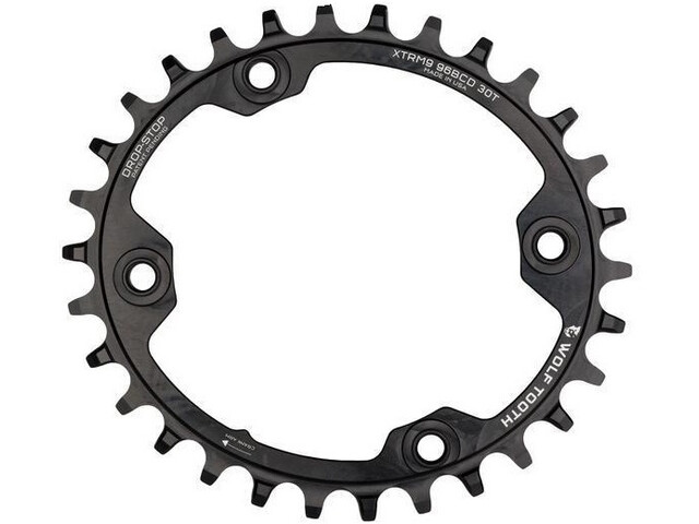 Wolf Tooth Plateau Oval 12 Vitesses Ø96mm BCD Shimano XTR M9000/M9020, black